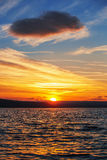 Colorful sunset over sea Stock Photos