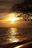 Colorful sunset over sea Pataya beach Thailand Stock Image