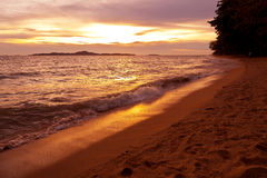 Colorful sunset over sea Pataya beach Thailand Royalty Free Stock Images
