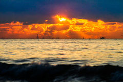 Colorful sunset over the sea Stock Image