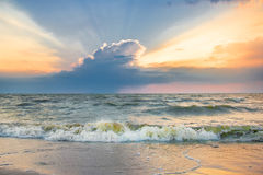 Colorful sunset over the sea Stock Photo