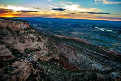 Free Colorful Sunset Over The Mountains Of Grand Junction, Colorado Stock Image - 110499311