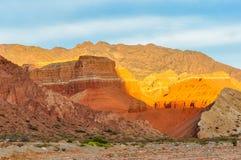 Colorful sunset in the Quebrada de las Conchas, Argentina Stock Image