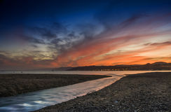 Colorful sunset at the Red Sea Royalty Free Stock Images