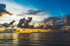 Colorful Sunset At The Sea Royalty Free Stock Images