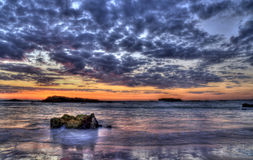 Colorful sunset seascape image Royalty Free Stock Image