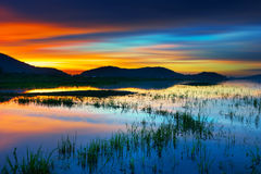Colorful sunset. Taken at Chonburi Province, Thailand stock photo