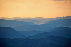 Colorful sunset in Tatra mountains Royalty Free Stock Photos