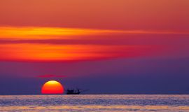 Colorful sunset, Thailand Stock Photography