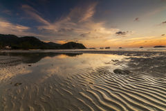 Colorful sunset on the tropical island. Koh Chang. Stock Images