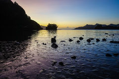 Colorful Sunset at Whanganui Inlet Stock Images