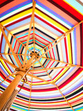 Colorful sunshade Royalty Free Stock Images