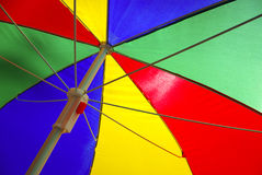 Colorful Sunshade Royalty Free Stock Photography