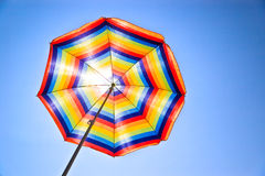Colorful sunshade Stock Photo