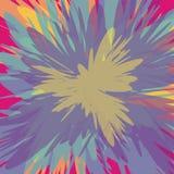 Colorful supernova blast background vector illustration