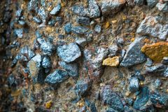 Colorful surface of collapsing, corrosive concrete wall.Texture, old plate background.  royalty free stock images