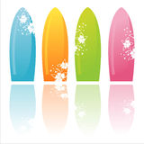 Colorful surfboards Stock Image