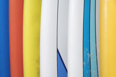 Colorful surfboards Stock Photos