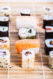 Colorful sushi Stock Images