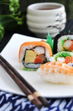 Colorful of sushi layer Royalty Free Stock Image