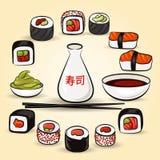 Colorful Sushi set Royalty Free Stock Photo