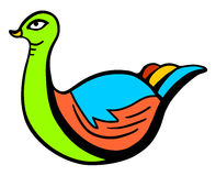 Colorful swan Stock Images