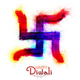 Colorful Swastika Symbol for Happy Diwali. Colorful Swastika Symbol for Indian Traditional Festival, Happy Diwali celebration
