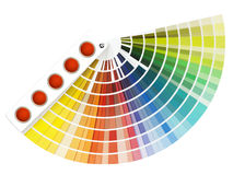 Colorful swatch book stock photos