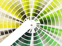 Colorful swatch book with shades of green Royalty Free Stock Image