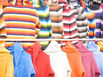 Colorful sweaters Stock Photo