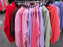Colorful sweaters Stock Images