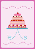 Colorful sweet cake Royalty Free Stock Images