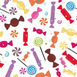 Colorful sweet candies seamless pattern vector illustration