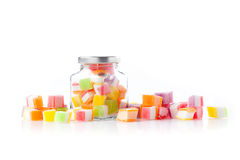 Colorful sweet candies  on white Stock Image