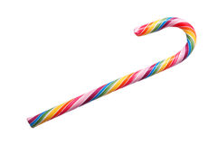 Colorful sweet candy cane. Royalty Free Stock Image