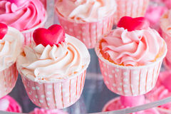 Colorful of sweet cup cake. Stock Image