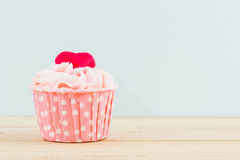 Colorful of sweet cup cake. Stock Photos