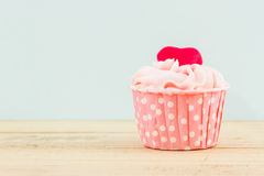 Colorful of sweet cup cake. Royalty Free Stock Photo