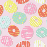 Colorful sweet donut pattern. Icing. Seamless. Royalty Free Stock Image