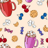 Colorful Sweet Food Pattern Royalty Free Stock Photo