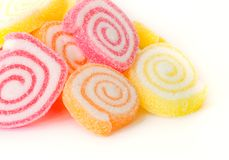 Colorful  sweet fruit candy. Royalty Free Stock Image