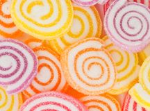 Colorful  sweet fruit candy. Royalty Free Stock Photography
