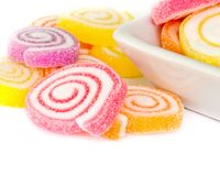 Colorful  sweet fruit candy. Royalty Free Stock Images