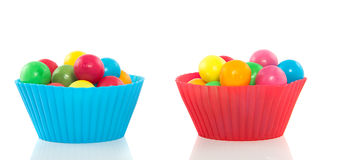 Colorful sweet gumballs Royalty Free Stock Photography