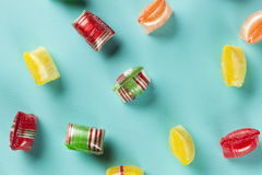 Colorful Sweet Hard Candy Mints Stock Photo