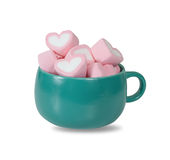 Colorful sweet marshmallow  in a coffee cup . Stock Image