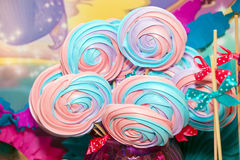 Colorful sweet merengue Royalty Free Stock Photos