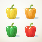 Colorful of Sweet pepper Stock Photo