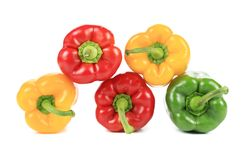 Colorful sweet pepper pyramid. Stock Images
