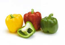Colorful sweet peppers Stock Photo